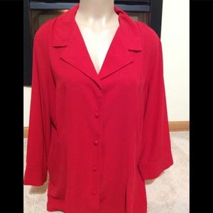 Women's size 16-18W COVINGTON button-down blouse